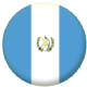 Guatemala Country Flag 25mm Keyring